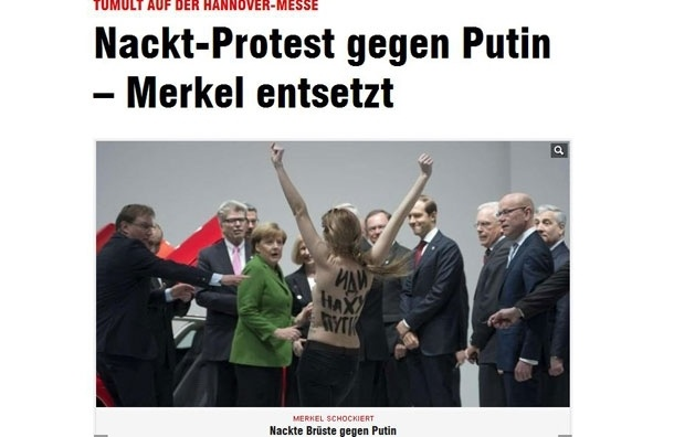 Путину понравилась акция FEMEN
