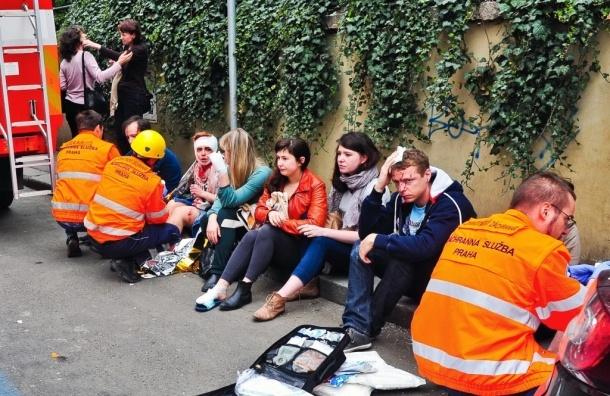 В центре Праги рядом с туристической зоной произошел взрыв