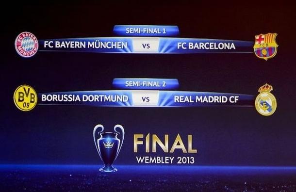 Жеребьевка 1/2 финала Лиги чемпионов. Испания против Германии
