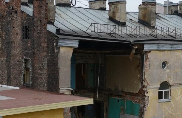 Обрушение дома на Лиговском, 117: завтра здание начнут разбирать