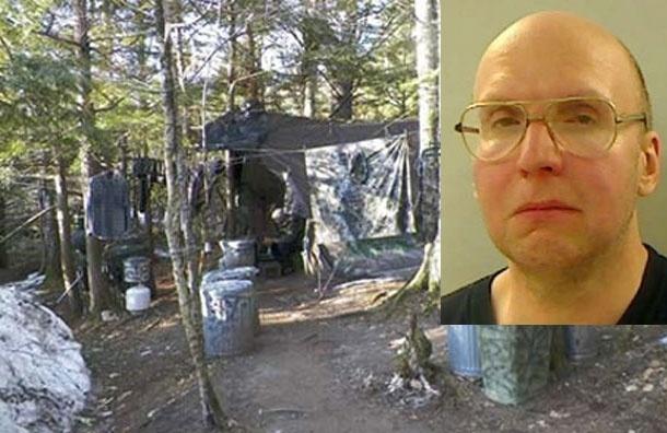 В США задержали отшельника, который 27 лет скрывался в лесах штата Мэн