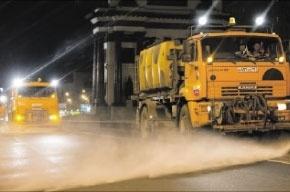Московские дороги помыли шампунем