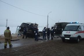 Под Петербургом водитель иномарки врезался в автобус и погиб