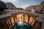 Фестиваль 3D стрит-арта. Работы  Эдгара Мюллера: Фоторепортаж