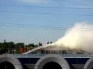 Пожар в ТРК «Континент» на улице Ленсовета: Фоторепортаж