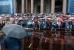 Репетиция хора на Исаакиевской площади: Фоторепортаж