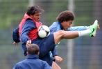 Тренировка перед матчем Зенит - Амкар 26 мая: Фоторепортаж