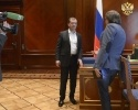 Фоторепортаж: «Медведев в программе Центральное Телевидение»
