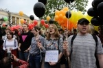 ЛГБТ-митинг на Марсовом поле-1: Фоторепортаж