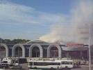 Фоторепортаж: «Пожар в ТРК «Континент» на улице Ленсовета»