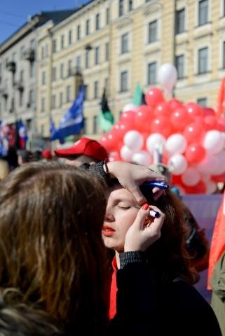 1 мая митинг Петербург : Фото