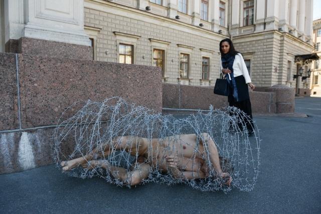 Петр Павленский у ЗАКСа: Фото