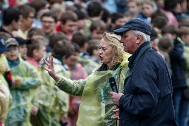Репетиция хора на Исаакиевской площади: Фото