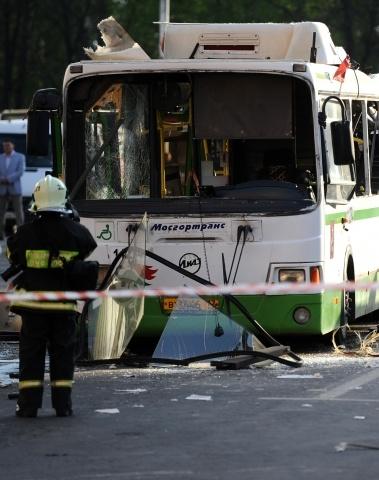 Взрыв автобуса на Речном: Фото