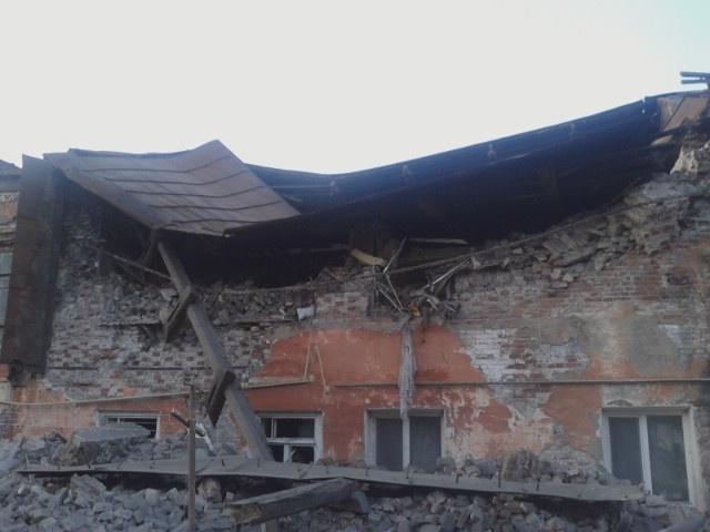 обрушение в библиотеке в Кунгуре: Фото