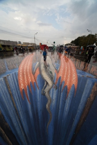 Фестиваль 3D стрит-арта. Работы  Эдгара Мюллера: Фото