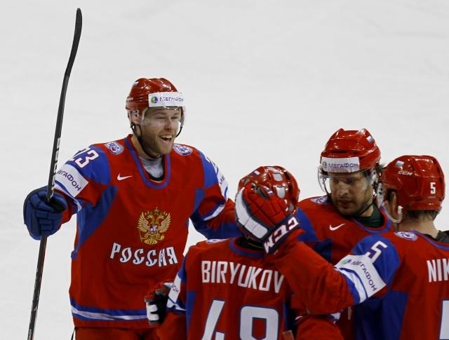 Россия – Латвия, хоккей 4 мая 2013: Фото