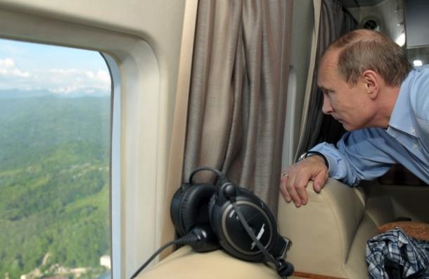 Путину подготовили вертолетную площадку в Кремле
