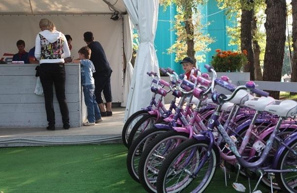 Схема расположения точек проката велосипедов в Москве