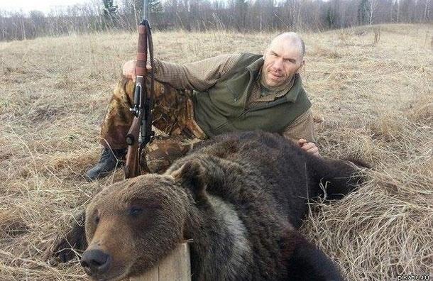 Охота на медведя может обернуться для Николая Валуева обвинением в браконьерстве