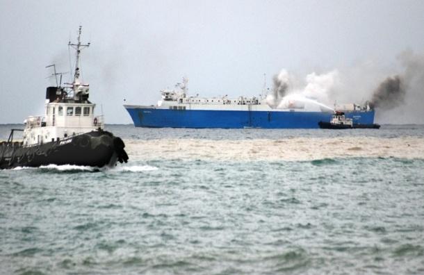 В пожаре на судне у берегов Японии погибли шесть россиян