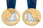 В Петербурге представили олимпийские медали Сочи 2014 – с «лоскутным одеялом»