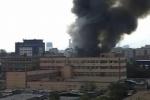 Невский район Петербурга заволокло дымом от пожара на Челиева