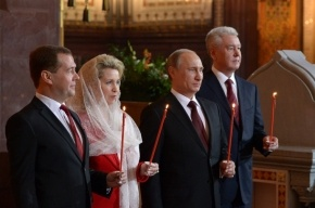 Путин сердечно поздравил православных с Пасхой