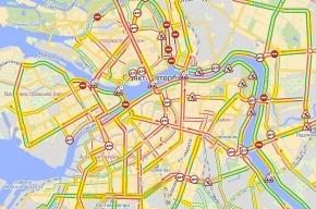Пробки в Петербурге 17 мая достигли 9 баллов: «Город стоит»