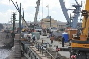 Частичное открытие Дворцового моста перенесли на 20 мая