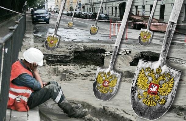 Почти все ямы, на которые жалуются автомобилисты в Петербурге, чинят тяп-ляп