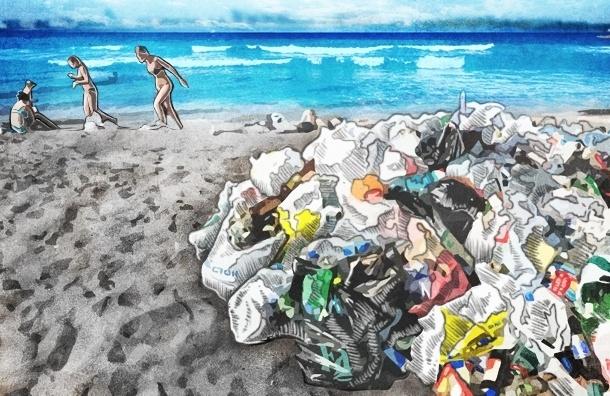 Пока бизнесмены спорят, пляжи в Петербурге зарастают мусором