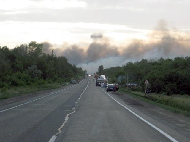 Взрывы в Самарской области на полигоне. 19.06.2013: Фото