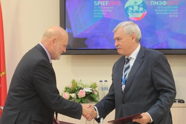 Полтавченко и компания Балтика, подписание соглашения 21 июня 2013: Фото