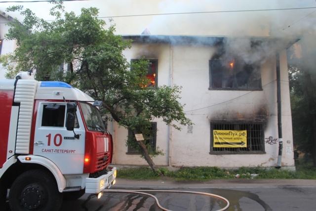 Пожар на Петровском проспекте : Фото