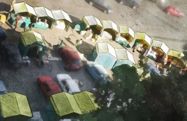 Торговые палатки с кофточками и корюшкой осложняют жизнь петербуржцам