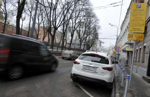 Платные парковки сократили количество въезжающих в центр Москвы на 25%