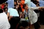Приезд Бекхэма в Китай привел к массовой давке с пострадавшими