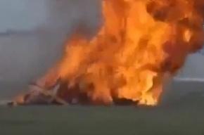 Падение и взрыв самолета на авиашоу в Дейтоне попало на видео