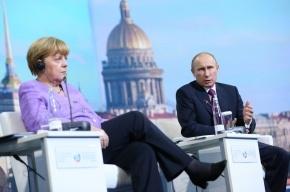 Путин напомнил Меркель об ущербе, нанесенном фашистами