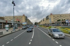 По Московскому проспекту в Петербурге гуляла обнаженная девушка