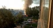 Автобус и грузовик загорелись после ДТП в Новосибирске: Фоторепортаж