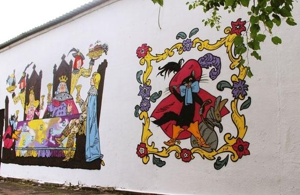 Москва украшается новыми граффити на темы любимых сказок
