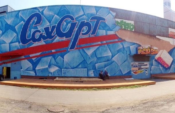 Полтора километра стен в технике граффити расписали на новой культурной площадке Москвы