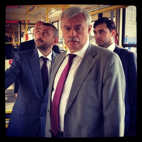 Полтавченко в трамвайном парке №2: Фото