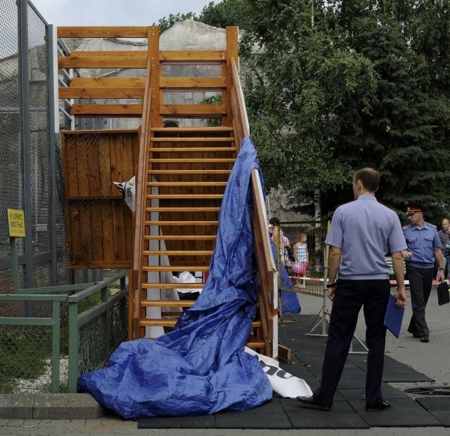 Обрушение в Московском зоопарке: Фото