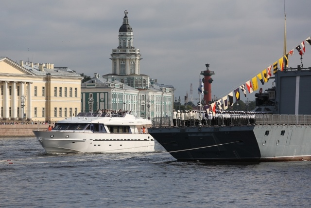 The Russian naval holiday Vladivostok Astrakhan Saint-Petersburg