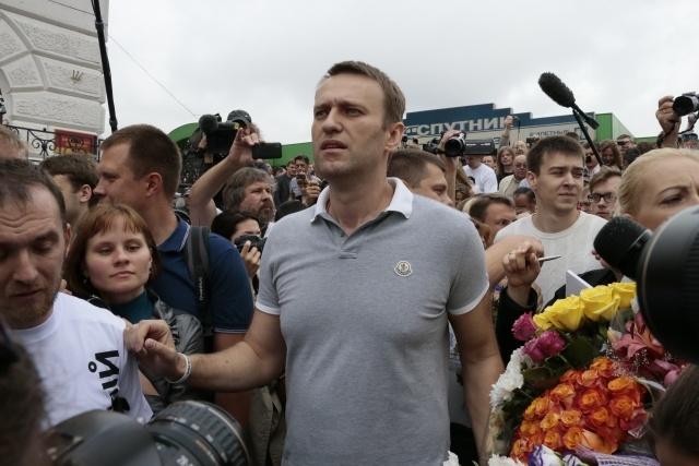 Алексей Навальный прибыл в Москву после освобождения: Фото