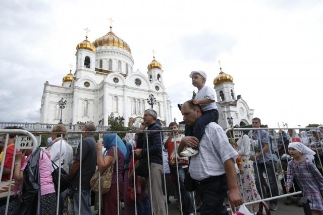 Крест Андрея Первозванного в храме Христа Спасителя в Москве: Фото