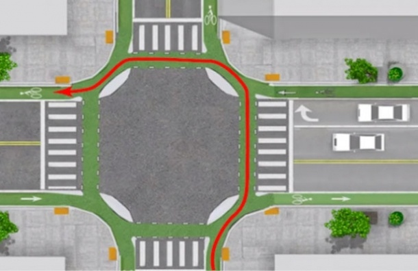 Для велосипедистов будут созданы островки безопасности  на перекрестках